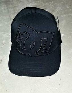 DC SHOES Baseball Cap Hat NOSWT Flexfit S-M Black