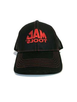 Mac Tools Baseball Cap Mesh Trucker Hat Black with Red Logo