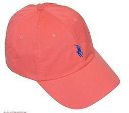 Polo Ralph Lauren Baseball Cap Pink W/ Blue Pony Adjustable