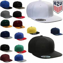 Baseball Cap Plain Two Tone Snapback Adjustable One Size Hat