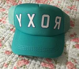 ROXY Baseball Cap Teal New SnapBack Mesh Womens Hat Trucker