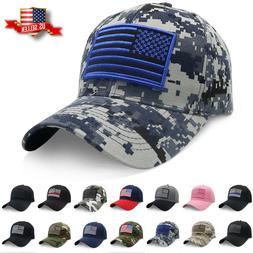 Baseball Cap USA American Flag Hat Visor Strapback Tactical