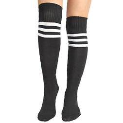 Women's Baseball Football Basketball Sport Socks Black