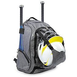 Body's Choice Baseball Gear Bag – Equipment Backpack 2 Bat