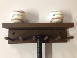 Baseball Softball Bat Rack Display Meant to Hold up to 5 Ful