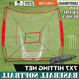 Rukket 7x7 Baseball/Softball Net | Practice Hitting, Pitchin