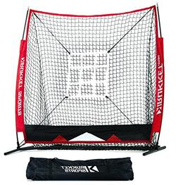 Rukket 5x5 Baseball & Softball Net | Practice Hitting, Pitch
