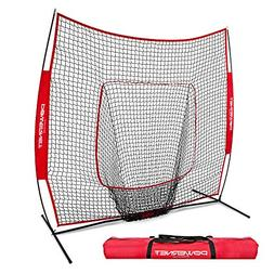 PowerNet Baseball and Softball Practice Net 7 x 7 with bow f