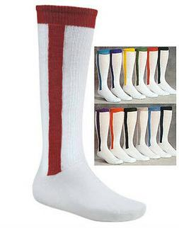 Baseball/Softball Stirrup Two-in-One Socks, One Pair,  New