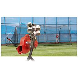Heater BaseHit Pitching Machine & Xtender 24 ft Batting Cage