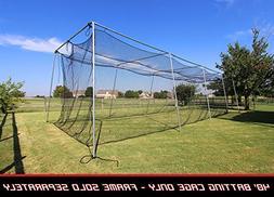 Baseball Batting Cage Net 40x12x10 #24 Twisted Poly Hdpe w/