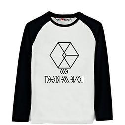 Fanstown Big Boys EXO Love Me Right Baseball Long-sleeve Shi