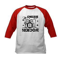 CafePress - 8th Birthday Kids Baseball Jersey - Kids Cotton