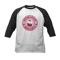 CafePress - 4th Birthday Cupcake Kids Baseball Jersey - Kids