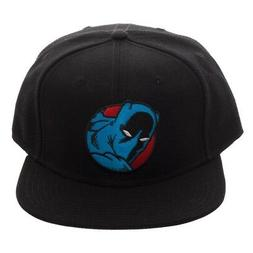 MARVEL COMICS BLACK PANTHER LOGO SNAPBACK HAT CAP FLAT BILL