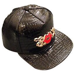 Black/Silver Punk Rock Baseball Caps Flat Brim Bboy Hats Sna