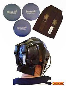 Black Baseball/Softball Cool-Catcher with 3 Soft Cold Gel Pa