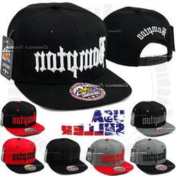 BOMPTON Baseball Cap Embroidered Snapback Adjustable Hat Com