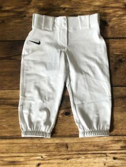 Nike Boys' Pro Vapor Baseball Pants White Size Small Kids