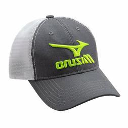 Mizuno Branded Mesh Trucker Hat - Charcoal/Optic