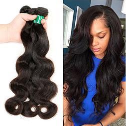 Brazilian Virgin Hair Body Wave Remy Human Hair 3 Bundles 10