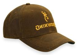 Browning Dura-Wax with Corporate Logo Baseball Cap Hat Brown