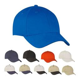 Brushed Cotton Baseball Caps Hats Light Weight 6 Panel Low C