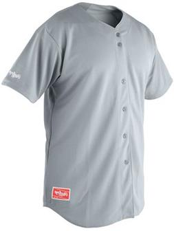 Rawlings Youth Full Button RYBBJ350 Jersey, Blue Grey, Youth