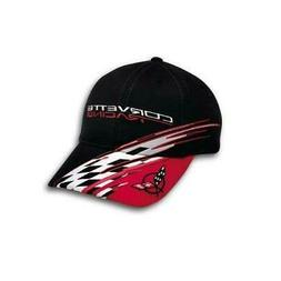 Chevrolet C5 Corvette Racing Checkered Bill Black Red Hat Ba