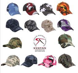 Camo HAT Cap Rothco Supreme Camouflage Low Profile Baseball