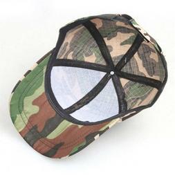 Camouflage Baseball Cap Hip Hop Cap Camo Hats For Training C