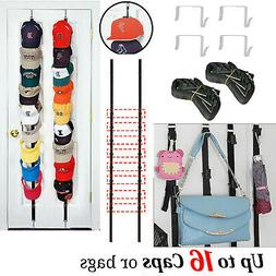 Cap Rack 16 Baseball Hats Visors Wall Door Hanger Holder Hoo
