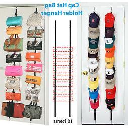 Cap Rack Closet Hanger System Storage 16 Caps Organizer Door