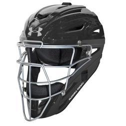 Under Armour Adult Pro Style Catcher's Helmet, Black