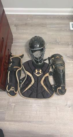under armour catchers gear good shape little dirty no rips/t