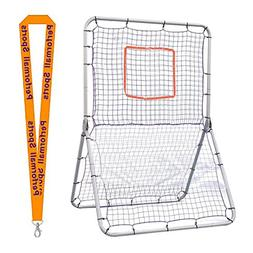 Champion Sports Bundle: Multi-Sport Net Pitch Back Screen Ro