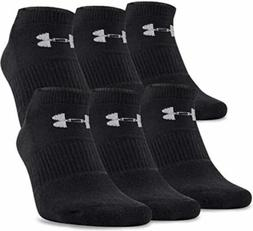 Under Armour Men's 6 Pack Large Charged Cotton No Show Socks