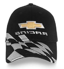 Chevy Racing Baseball Hat Ball Cap ~ Black w/ Bowtie & Check