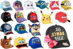 children kids character baseball cap adjustable boy