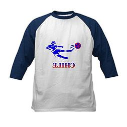 CafePress - Chile Soccer Player Kids Baseball Jersey - Kids