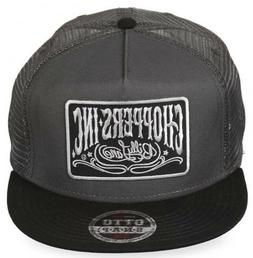Choppers Inc Billy Lane Gray & Black 3030 Pro Otto Snap Cap