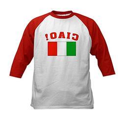 CafePress - Ciao Italia Italy flag Kids Baseball Jersey - Ki