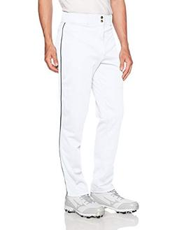 Wilson Men's Classic Relaxed Fit Piped Baseball Pant, White/