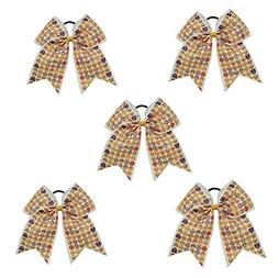 CN 5pcs Emoji Large Cheer Bows Cheerleading Girl Boutique Ha