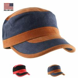 Color Block Mix Military Army Soft Knit Baseball Cap Casual