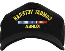 combat veteran hat korea ribbon baseball cap