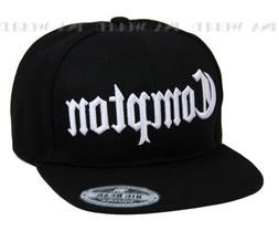 COMPTON hat 3D embroidered Snapback Baseball cap Flat Hiphop