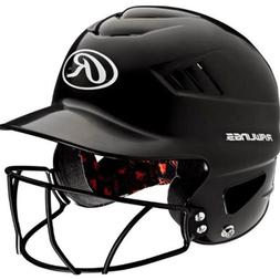 Rawlings Coolflo NOCSAE Molded Batting Helmet, Black, One Si