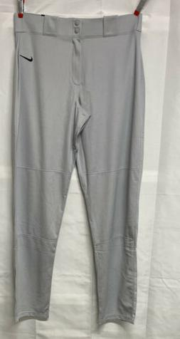 NIKE Men's Core Baseball Pants, Wolf Grey/Black, X-Large