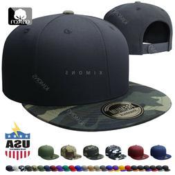 Cotton Snapback Hat Hip Hop Baseball Cap Solid Plain Flat Me